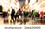 commuter people rush hour busy... | Shutterstock . vector #266620400