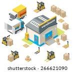 vector isometric icon set... | Shutterstock .eps vector #266621090