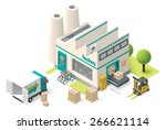 vector isometric icon set... | Shutterstock .eps vector #266621114
