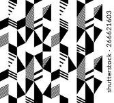 seamless black and white... | Shutterstock .eps vector #266621603