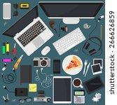 flat modern vector design... | Shutterstock .eps vector #266626859