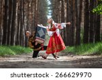 Couple In Russian Traditional...