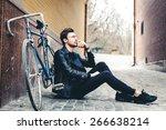 close up fashion portrait of... | Shutterstock . vector #266638214