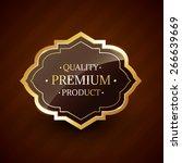 quality premium product design... | Shutterstock .eps vector #266639669