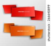 origami paper infographic... | Shutterstock .eps vector #266640899