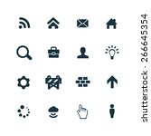 webdesign icons vector set | Shutterstock .eps vector #266645354