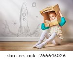child is dressed in an... | Shutterstock . vector #266646026