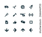 medical icons vector set | Shutterstock .eps vector #266646953