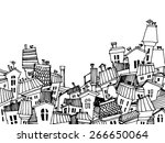 abstract image of the city.... | Shutterstock .eps vector #266650064