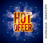 hot offer design  vector... | Shutterstock .eps vector #266651393
