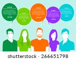 people group chat social... | Shutterstock .eps vector #266651798