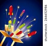 pyrotechnic fireworks  design ... | Shutterstock .eps vector #266652986