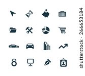 company icons vector set | Shutterstock .eps vector #266653184