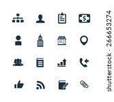 company icons vector set | Shutterstock .eps vector #266653274