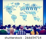 world wide web concept   Shutterstock . vector #266654714