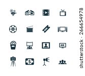 cinema icons vector set | Shutterstock .eps vector #266654978