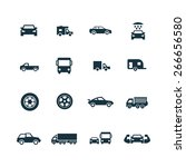 car icons vector set | Shutterstock .eps vector #266656580