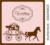 wedding invitation design ... | Shutterstock .eps vector #266656823