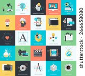 set of flat design style... | Shutterstock .eps vector #266658080