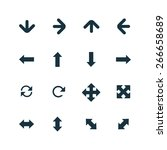 set of arrows icons on white...