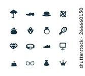 accessories icons vector set | Shutterstock .eps vector #266660150