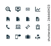 analytics  research icons... | Shutterstock .eps vector #266660423