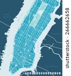 Stock vector map of new york 266662658