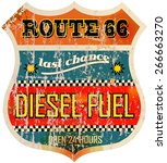 Vintage Route Sixty Six Gas...