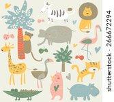 Africa Animals In Vector Set....