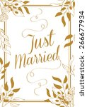 just married typography card... | Shutterstock .eps vector #266677934