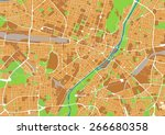 vector city map of munich ... | Shutterstock .eps vector #266680358