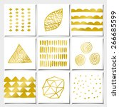 a set of nine abstract... | Shutterstock .eps vector #266685599