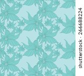 vector creative hand drawn... | Shutterstock .eps vector #266688224