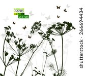 background dill nature. vector | Shutterstock .eps vector #266694434