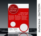 brochure cover template. flyer  ... | Shutterstock .eps vector #266701394