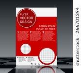 brochure cover template. flyer  ... | Shutterstock .eps vector #266701394