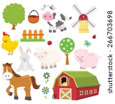 farm set | Shutterstock .eps vector #266703698