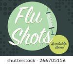 flu shots available here with... | Shutterstock .eps vector #266705156