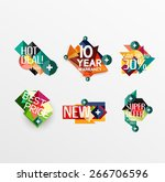 set of labels  stickers ... | Shutterstock .eps vector #266706596