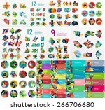 mega collection of flat web... | Shutterstock .eps vector #266706680