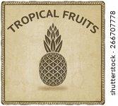 pineapple tropical fruit symbol ... | Shutterstock .eps vector #266707778