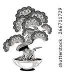 bonsai | Shutterstock .eps vector #266711729