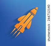 rocket design on blue... | Shutterstock .eps vector #266712140