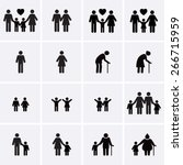 family icons  | Shutterstock .eps vector #266715959