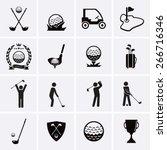 golf icons | Shutterstock .eps vector #266716346