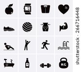 fitness and sport icons fitness | Shutterstock .eps vector #266716448