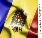 moldavia waving flag | Shutterstock . vector #266717510