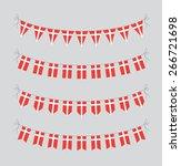 danish bunting   Shutterstock .eps vector #266721698