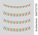 italian bunting | Shutterstock .eps vector #266721710