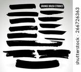 brush stroke and texture.... | Shutterstock .eps vector #266726363